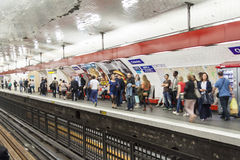 Paryska stacja metru Chatelet, Francja -. Fotografia Royalty Free