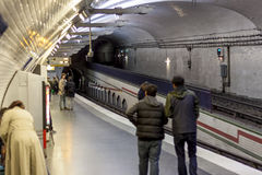 Paryska stacja metru Mirabeau Obrazy Royalty Free