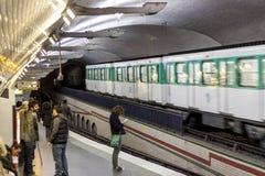 Paryska stacja metru Mirabeau Fotografia Royalty Free