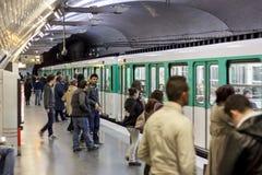 Paryska stacja metru Mirabeau Obrazy Stock