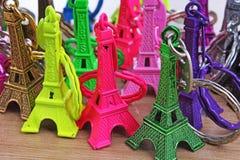 Paryska turystyki ilustracja Piękna Paris eifel wierza pamiątki tekstura Wież Eifla statuy od Paris kolorowy Zdjęcie Stock