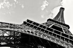 Paryska wieża eifla Czarny I Biały Zdjęcie Royalty Free