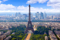 Paryska wieży eifla i linii horyzontu antena Francja Zdjęcia Stock