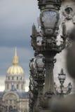 Paryski Francja architektury kopuły Des Invalides Zdjęcia Royalty Free