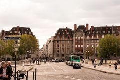 Paryski Francja 14 2018 Sierpień zdjęcie royalty free