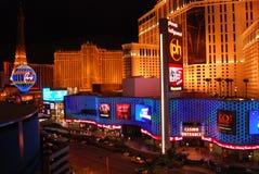 Paryski hotel i kasyno pasek, Las Vegas, Las Vegas, Paryski Las Vegas, punkt zwrotny, noc, miasto, obszar wielkomiejski Obrazy Royalty Free