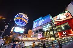 Paryski hotel i kasyno, punkt zwrotny, noc, miasto, atrakcja turystyczna Obraz Stock