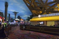 Paryski Hotelowy wnętrze w Las Vegas, NV na Czerwu 26, 2013 Obrazy Royalty Free