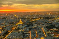 Paryski Invalids pałac zmierzch obrazy royalty free