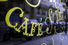 Paryski kawiarnia znak Zdjęcia Stock