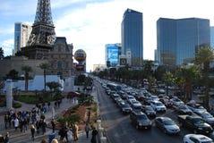 Paryski Las Vegas, Las Vegas pasek, Paryski hotel i kasyno, Paryski Las Vegas, Paryski Las Vegas, Paryski Las Vegas, obszar wielk Zdjęcie Stock