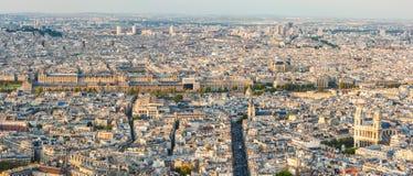 Paryski linii horyzontu panoramy widok z lotu ptaka w świetle dziennym Obraz Royalty Free
