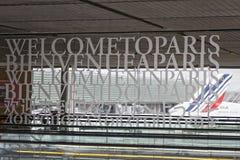 Paryski lotnisko Zdjęcia Royalty Free
