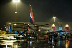Paryski lotnisko przy nocą Zdjęcie Stock