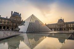 Paryski louvre muzeum obraz royalty free