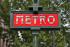 Paryski metro Fotografia Royalty Free