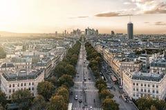 Paryski miasto przy zmierzchem zdjęcie royalty free