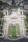 Paryski pejzaż miejski. Trocadero Obraz Royalty Free
