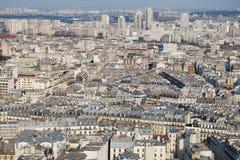 Paryski pejzaż miejski od wysokiego punktu widzenia Obraz Royalty Free