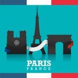 Paryski punktu zwrotnego projekt Zdjęcie Stock