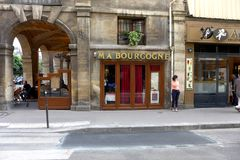 Paryski Stary Café fotografia royalty free