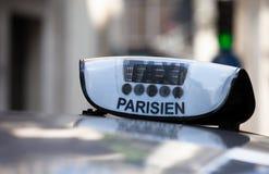 Paryski taxi fotografia royalty free