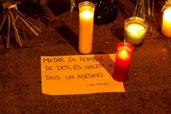 Paryski terroryzmu atak Obrazy Stock