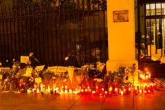 Paryski terroryzmu atak Zdjęcia Stock