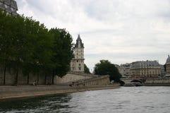 Paryski widok od rzeki Zdjęcie Stock
