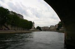 Paryski widok od rzeki Zdjęcie Royalty Free