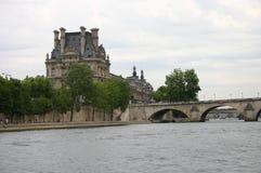 Paryski widok od rzeki Zdjęcia Stock
