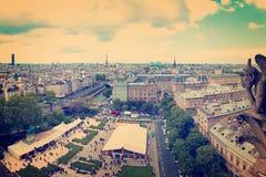 Paryski widok z lotu ptaka Fotografia Stock