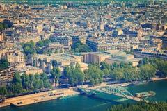 Paryski widok z lotu ptaka Obrazy Royalty Free