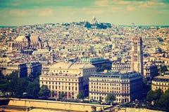 Paryski widok z lotu ptaka Obraz Stock