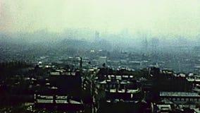 Paryski widok z lotu ptaka zdjęcie wideo