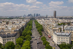 Paryski widok z wierzchu Łuku De Triomphe Zdjęcia Stock
