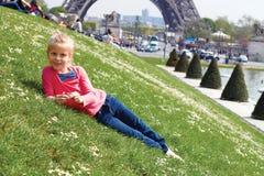 Paryski wieża eifla turysta Zdjęcia Royalty Free