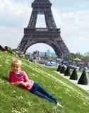 Paryski wieża eifla turysta Obraz Royalty Free