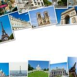 Paryskie fotografie w kolaż kompilaci Fotografia Stock