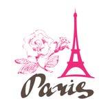 Paryskie kwiat menchie ilustracji