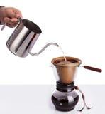 Parzenie kawa w chemex Zdjęcia Royalty Free