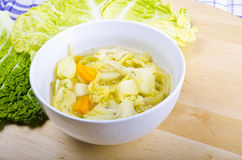 Parzybroda-Savoy cabbage soup Royalty Free Stock Photo