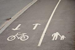pasów ruchów rowerowy pieszy rezerwował Obraz Stock