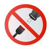 Pas Bezpieczeństwa ikona odizolowywająca na białym tle Bezpieczeństwo ruch na samochodzie, samolot Ochrona pasażery i kierowca Obrazy Royalty Free
