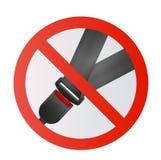 Pas Bezpieczeństwa ikona odizolowywająca na białym tle Bezpieczeństwo ruch na samochodzie, samolot Ochrona pasażery i kierowca Fotografia Stock