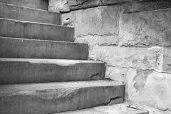 Pas concrets en pierre Image stock