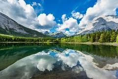 País da lagoa da cunha, Kananaskis Fotos de Stock Royalty Free