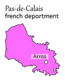 Pas-de-Calais french department map Royalty Free Stock Image