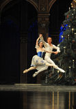 Pas de deux- The second act second field candy Kingdom -The Ballet  Nutcracker Royalty Free Stock Image