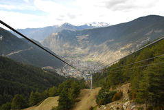 Pas de La Casa cable car Royalty Free Stock Image